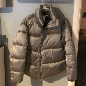Silver plus size puffy jacket from H&M